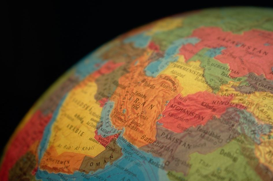 Iran globe carte
