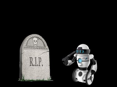 RIP Robot enterrement robot