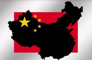chine drapeau et carte