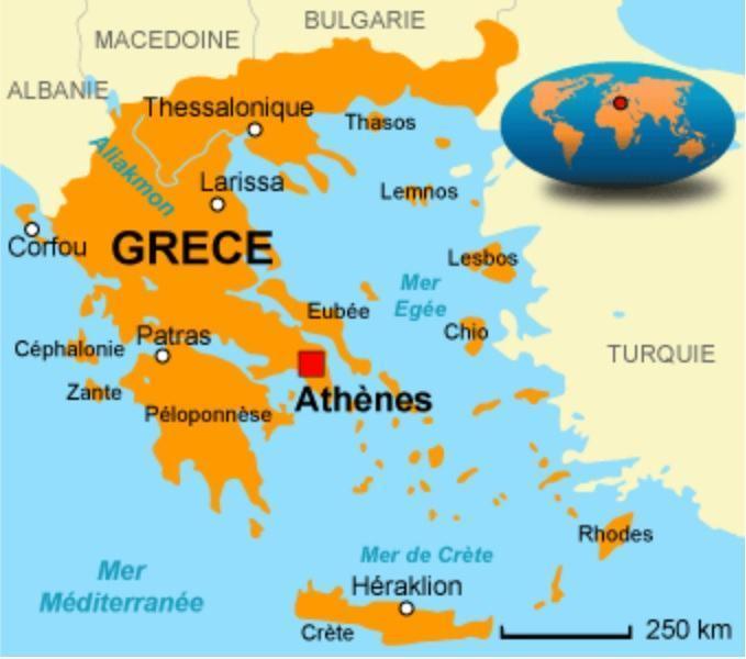 la grece carte europe