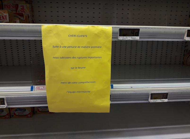 Beurre : près de la moitié de la demande non-satisfaite fin octobre