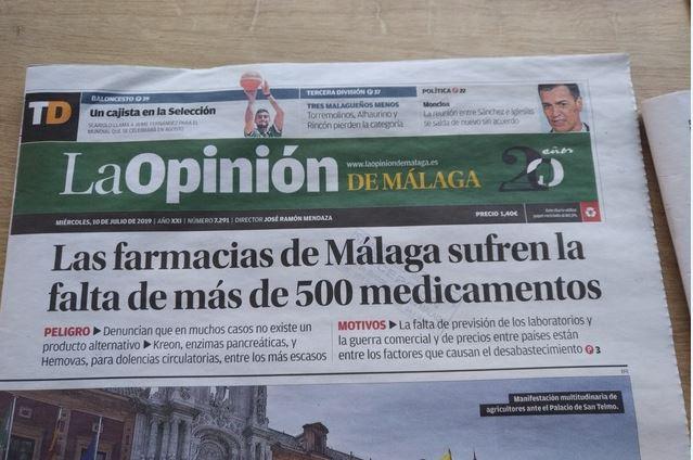 Pénurie de médicaments à la «Une» en Espagne