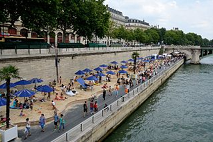 """Blague du jour : """"Paris Plages se fera sans sable"""""""
